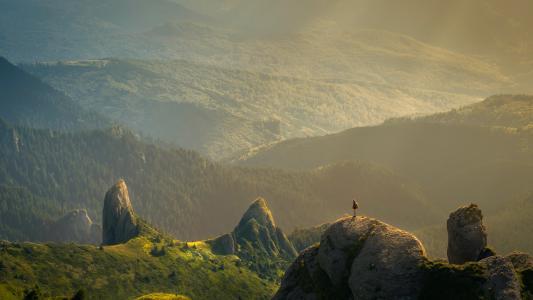 美丽的大山风景