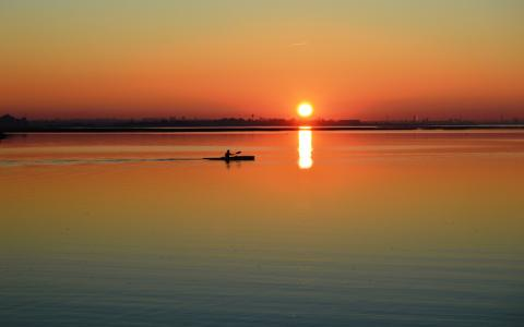 日出日落的唯美风景