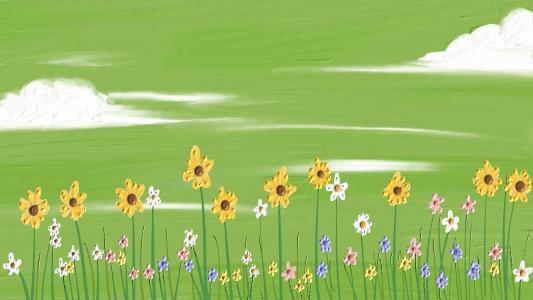 油画里的春天