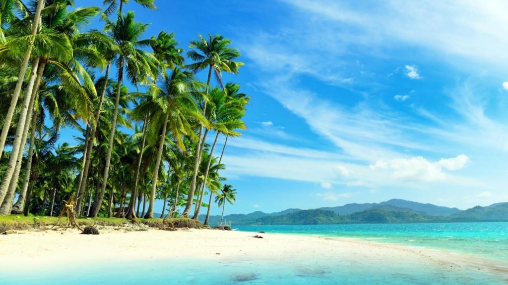 小清新热带岛屿海边沙滩