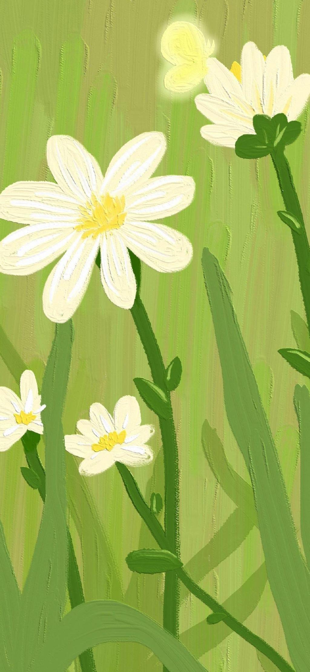 清新油画花卉