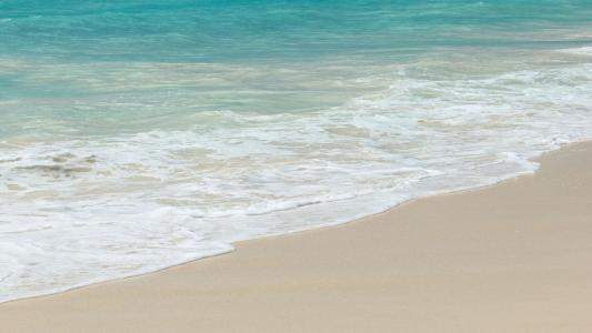 小清新海边沙滩海浪风光