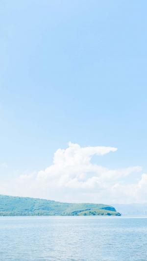 小清新唯美蓝色自然风光