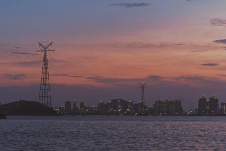 厦门海湾公园傍晚风光