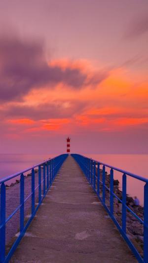 日落海边唯美自然风景