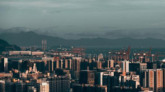 美丽的城市风光景色