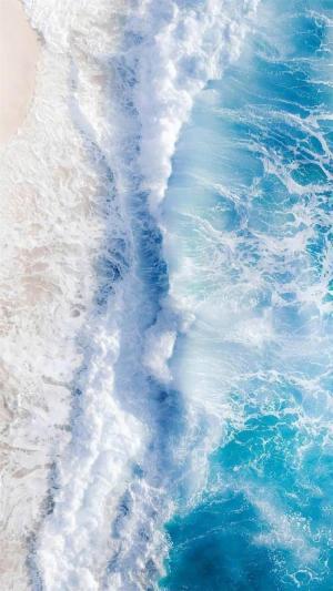 海岸沙滩浪花迷人景色
