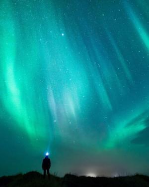 冰岛的极光
