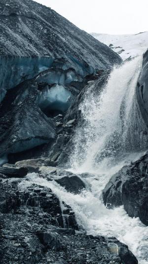 唯美大自然瀑布风景