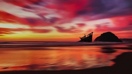 唯美迷人的落日黄昏美景