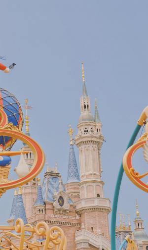 迪士尼的漂亮风光