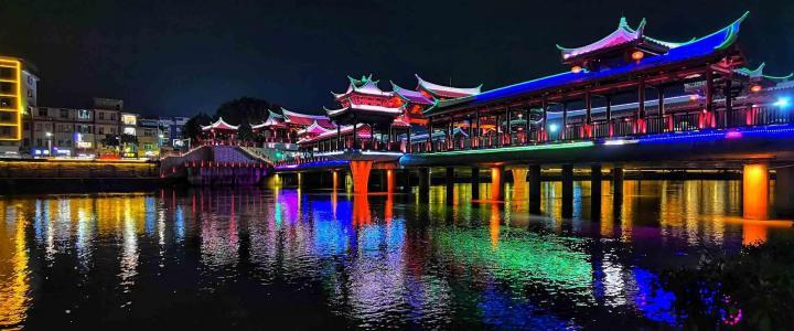 夜色阑珊的南靖江滨