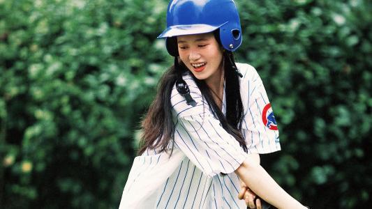 棒球女孩青春靓丽写真