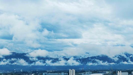 清新蓝天白云美景