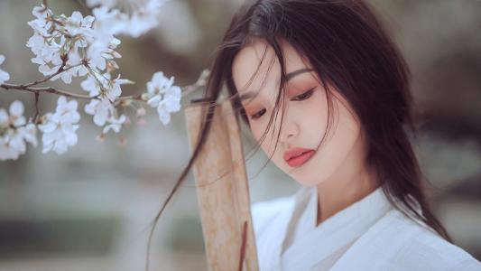 白衣古装美女古风写真
