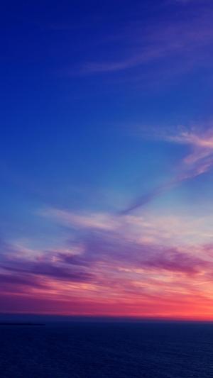 最美黄昏下的海上风景