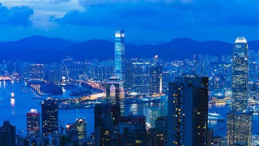 迷人繁华的香港夜景