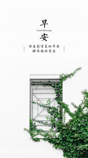 小清新早安文字背景图
