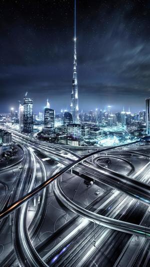 世界第一高楼迪拜哈利法塔