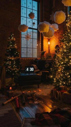 浪漫唯美迷人的圣诞树