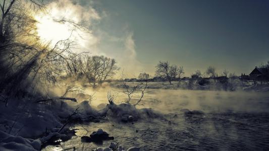 冬季风光唯美雪景