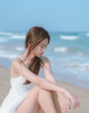 海边清新美女漂亮写真