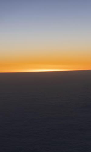 平流层的日落美景