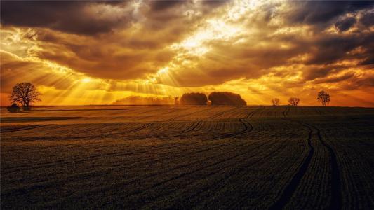 唯美的田园意境风景