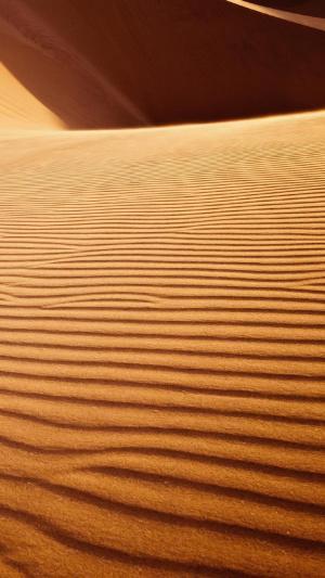 广阔无垠的沙漠风光