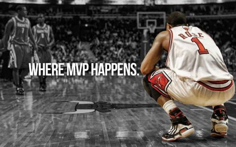 NBA体坛球星德里克罗斯