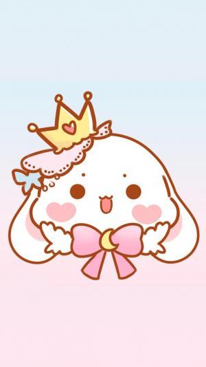 粉色萌萌卡通兔子背景图